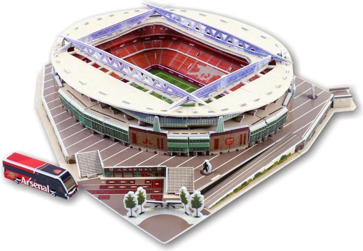 3D-puzzel van bekende voetbalstadiums: EMIRATES STADIUM Arsenal Football Club