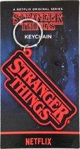 Netflix Stranger Things Logo Rubberen Sleutelhanger Keychain Rood / Zwart