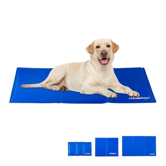 relaxdays koelmat hond - voor honden   katten - verkoelende mat - koeldeken - verkoeling 40 x 50 cm
