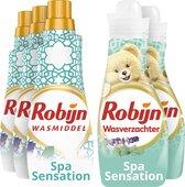 Robijn Perfecte Match Spa Sensation Wasmiddel en Wasverzachter - 3 x 21 en 2 x 30 wasbeurten - Voordeelverpakking