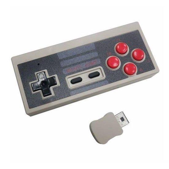 Dolphix Draadloze controller voor Nintendo Classic Mini (Mini NES) / grijs/zwart