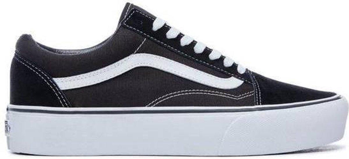 Vans Old Skool Sneakers - Unisex - Platform - Zwart/Wit - Maat 41 - Vans