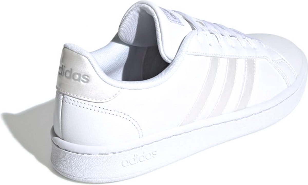 adidas Grand Court Sneakers - Maat 38 2/3 - Vrouwen - wit/ zilver Xq8PG
