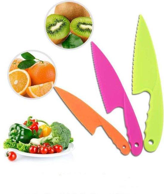 Kindermessen - Messen voor kinderen - Veiligheidsmessen - Gekleurde messenset voor kinderen - Kindermes - Koks messenset - Kindvriendelijke messenset voor kinderen - Gekleurde messenset - Bestek voor kinderen - Kids kitchen knife