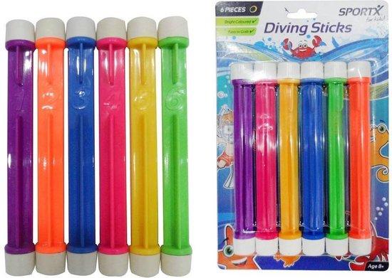 Sportx- Duikstokjes - 6 verschillende kleuren - 0765003