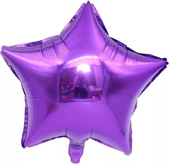 Folieballon ster| Paars | 18 inch | 45 cm | DM-products