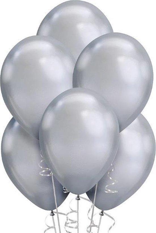 Party Colors Chrome Ballonnen Zilver 10 stuks
