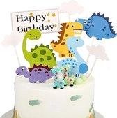Dino Taart Versiering - Dino Versiering Verjaardag - Dino Taart Decoratie - Dinosaurus Versiering