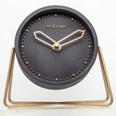 NeXtime Cross Table - Klok - Stil Uurwerk - Rond - Ø17,5 cm - Zwart/Koper