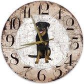 Houten Klok - 30cm - Hond - Beauceron