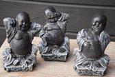 Happy boeddha horen zien zwijgen van beton