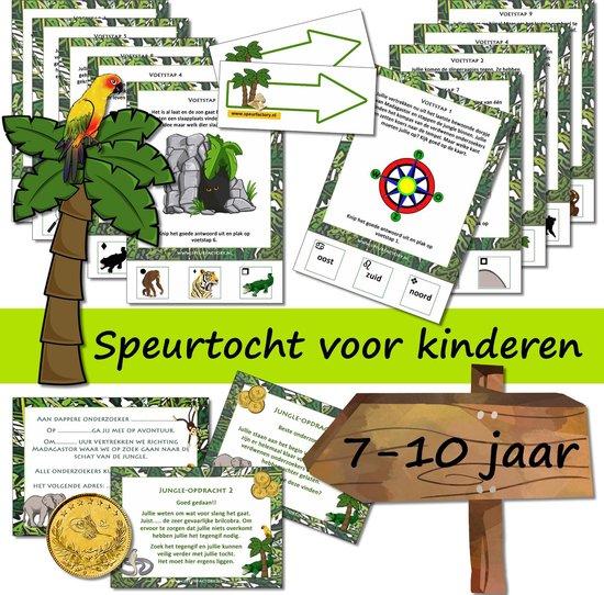 Afbeelding van het spel Speurtocht voor kinderen - Het geheim van de jungle  - 7 t/m 10 jaar - kinderfeestje - speurtocht - speurpakket