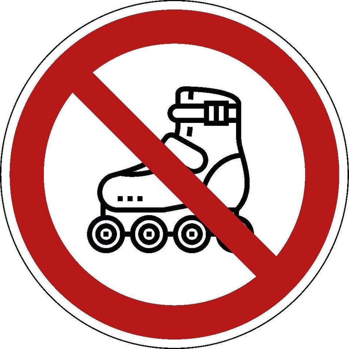 Verboden te skaten sticker 200 mm