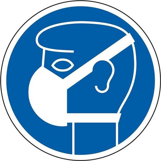 bol.com | Gebodsbord 'Masker dragen verplicht', 200 mm