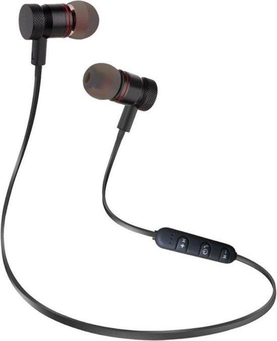 Bluetooth Draadloze Oortjes / Sport Oordopjes met Microfoon - Geschikt voor Hardloop & Sport (Zwart).