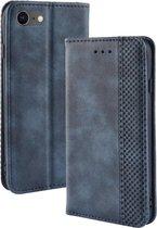 iPhone SE (2020) / 8 / 7 Hoesje - Vintage Book Case - Blauw