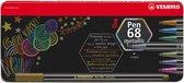 Afbeelding van STABILO Pen 68 Metallic - Premium Metallic Viltstift - Metalen Etui Met 8 Kleuren