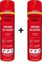 2x Prymosafe, Universele spray-blusser, inhoud 760 ml, 1 Brandblusser voor alle meest voorkomende beginnende branden.