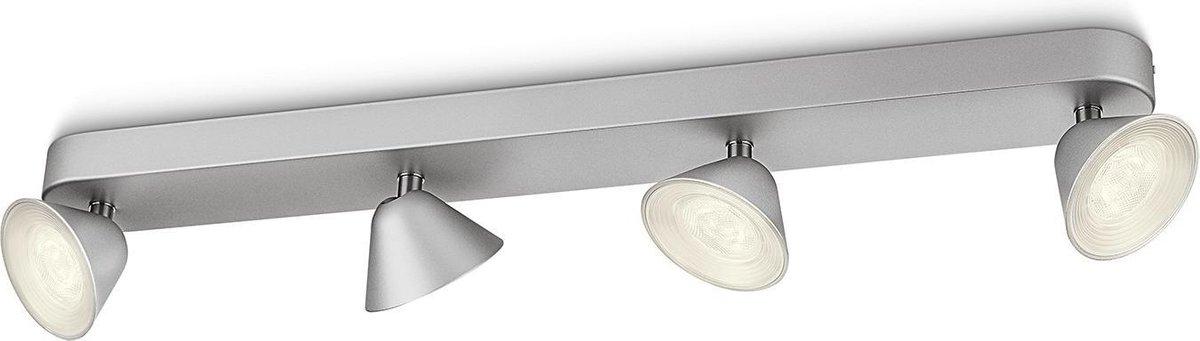 Philips myLiving Tweed - Plafondlamp - 4 Spots - Aluminium