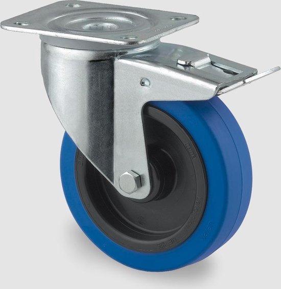 Zwenkwiel met dubbele rem 3477UFR100P62 Blue