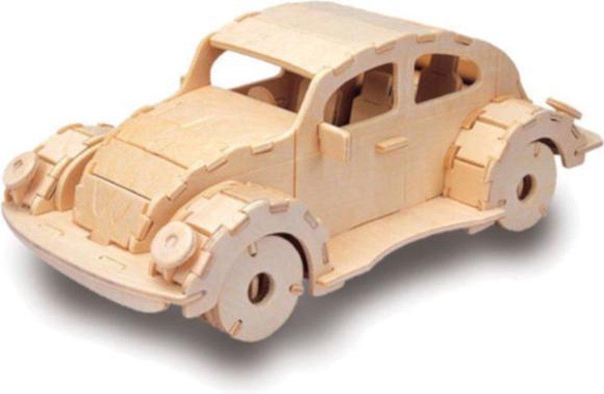 Bouwpakket 3D Puzzel VW Beetle - hout