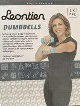 Leontien Dumbbells 2 x 2kg