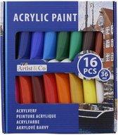 Acrylverf - 16 delig - 36 ml - Acrylic
