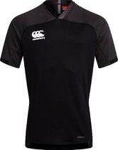 Canterbury Sportshirt - Maat S  - Mannen - zwart/donkergrijs/wit