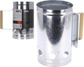 MaxxGarden brikettenstarter - BBQ starter - houtskool starter - zilver - Ø 16x27,5 cm