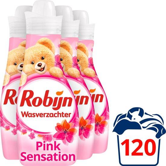 Robijn Vloeibaar Pink Sensation - 4 x 750 ml - Wasverzachter - voordeelverpakking