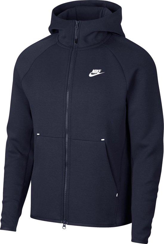 Nike Nsw Tech Fleece Hoodie Fz Vest Heren - Obsidian/(White) - Maat L