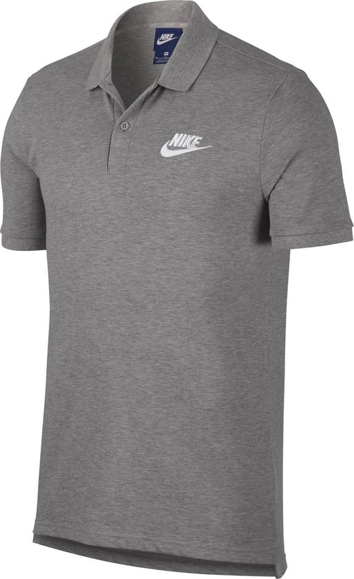 Nike Nsw Ce Polo Matchup Pq Heren Sportpolo - Dk Grey Heather/(White) - Maat S