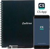Owltree notitieboek uitwisbaar / herbruikbaar notitieboekje - bullet journal - handige schrijfmap & kantoor artikel - cadeau voor vrouw / man