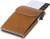 Tony Perotti Aluminium RFID portemonnee met kleingeldvak - Honing