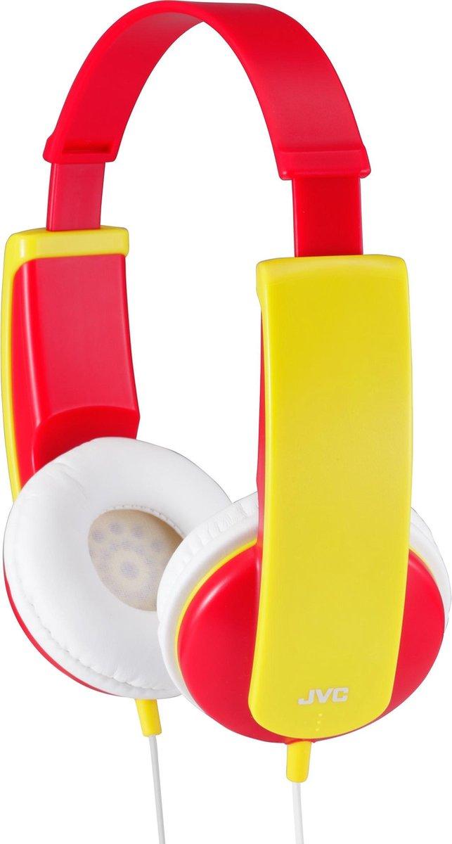 JVC HA-KD5 - On-ear kids koptelefoon - Rood/Geel