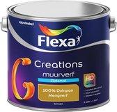Flexa Creations - Muurverf Zijde Mat - Mengkleuren Collectie - 100% Duinpan  - 2,5 liter