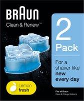 Braun Clean & Renew - 2 stuks - Reinigingsvloeistof Scheerapparaat