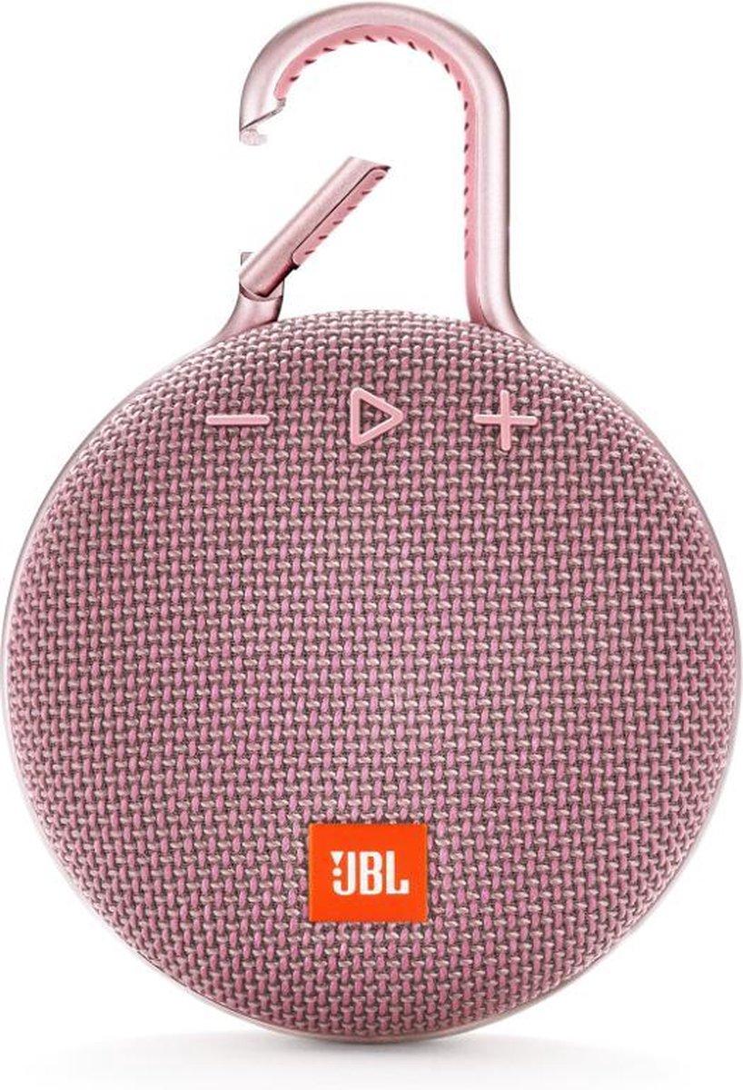 JBL Clip 3 Roze - Draagbare Bluetooth Mini Speaker