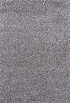 Hoogpolig Vloerkleed Shaggy Deluxe - Zilver -  120 x 170 cm