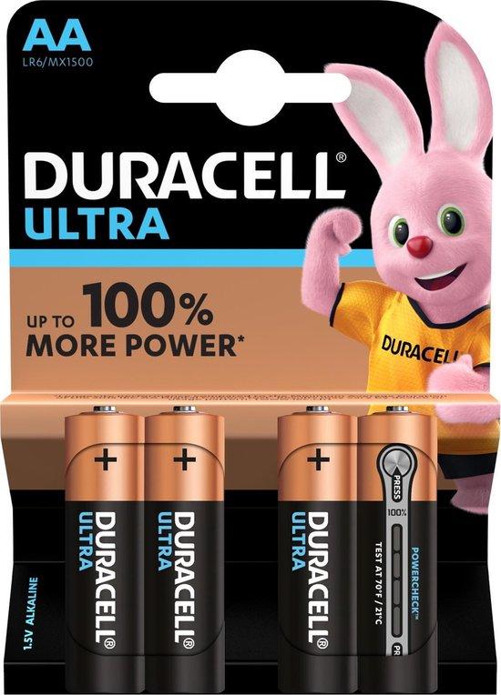Duracell Ultra Power AA Batterijen - Alkaline - 4 stuks