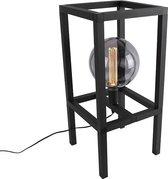 QAZQA big cage - Tafellamp - 1 lichts - H 660 mm - Zwart