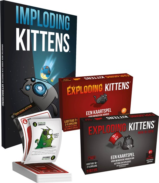 Bol Com Exploding Kittens Bundel Nederlandstalig Games