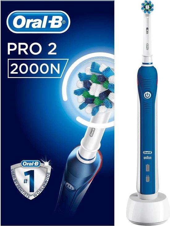 Oral-B Pro 2 2000N CrossAction - Elektrische Tandenborstel - Blauw