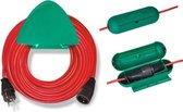 BRENNENSTUHL Rood verlengsnoer 20 m H05VV-F 3G1.5 met muurbevestiging en kluis