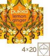 Pukka Lemon Ginger & Manuka Honey Thee - 4 x 20 zakjes