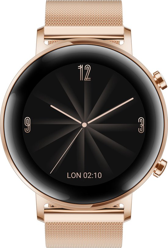Huawei Watch GT 2 - roze goud - metalen band