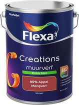 Flexa Creations Muurverf - Extra Mat - Mengkleuren Collectie - 85% Appel  - 5 liter