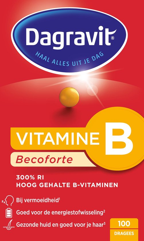 Dagravit Vitamine B Becoforte - Multivitamine - 100 tabletten