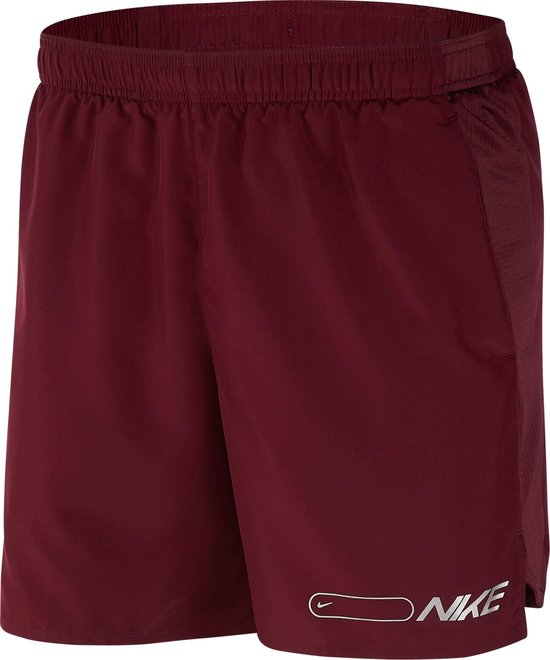 Nike M Nk Air Chllgr Short 7In Bf Heren Sportbroek - Night Maroon/Reflective Silv - Maat L