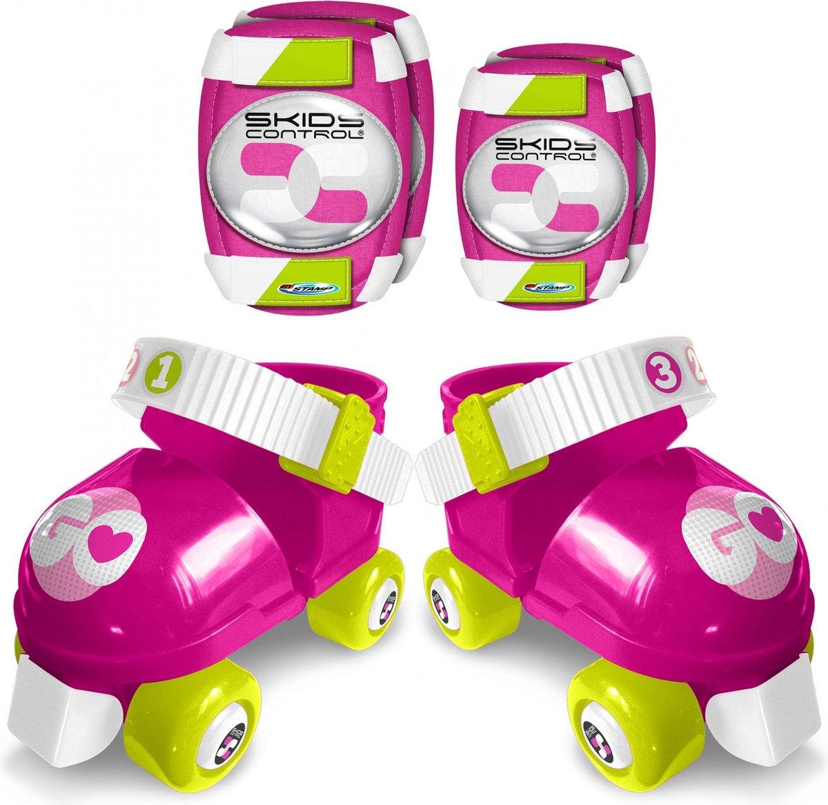 Skids Control Rolschaatsen Met Bescherming Meisjes Roze Maat 23-27